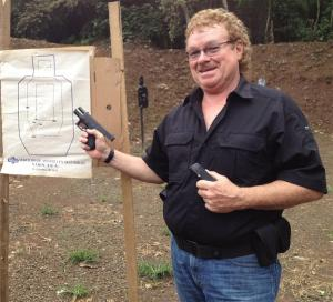 My cousin Gordon, a new NRA instructor and Retired CEO of Mil-Comm Products