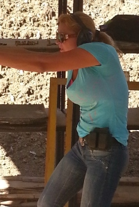 Look...still smilin', just another day of shooting at the range